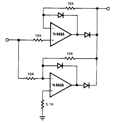 Build a Precision full wave Rectifier Circuit Diagram