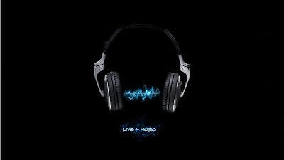 Blue headphones live music wallpapers