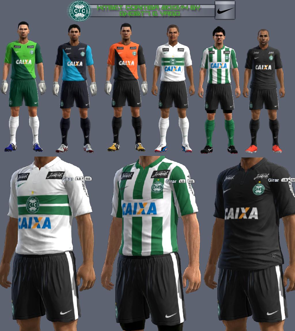 Coritiba F.C 2013/14 KitSet - PES 2013