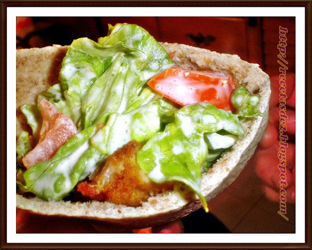 Pan Pita Con Empanados