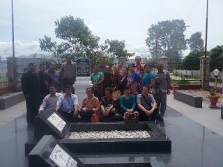 Keluarga besar HKIP jiarah kepemakaman DR.IL.Nommensen