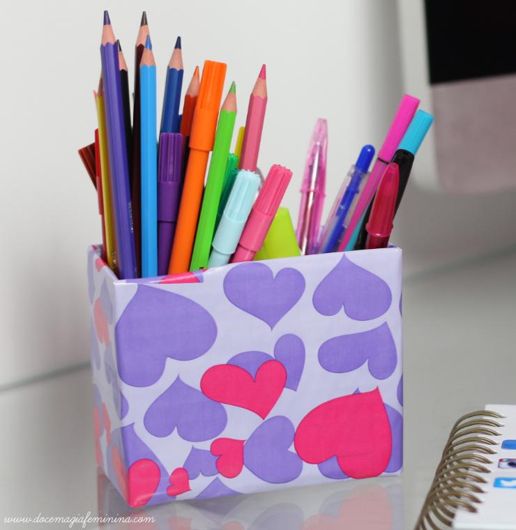 DIY porta canetas personalizado