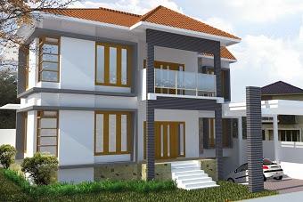 Jasa Gambar Konsep Desain Rumah Pojok