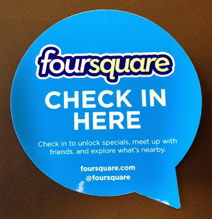 Foursquare - check in here