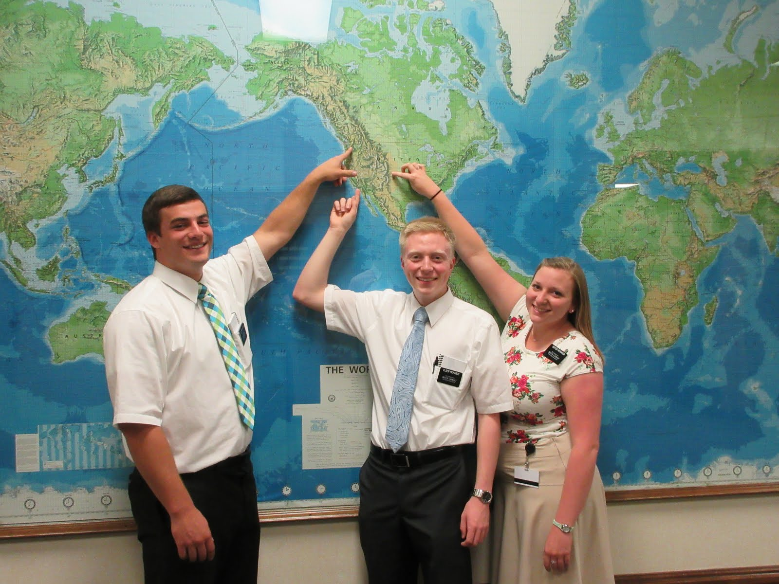 Elder Luke Richards, Elder Brian Richards, Sister Ellen Richards