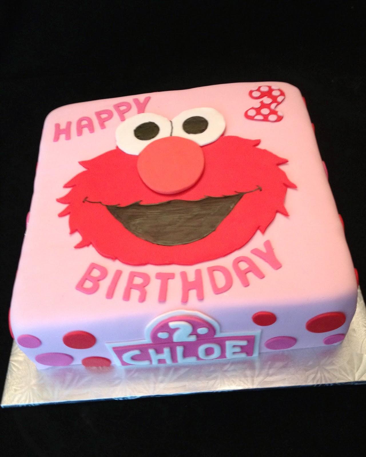 Chloes Elmo Birthday Cake
