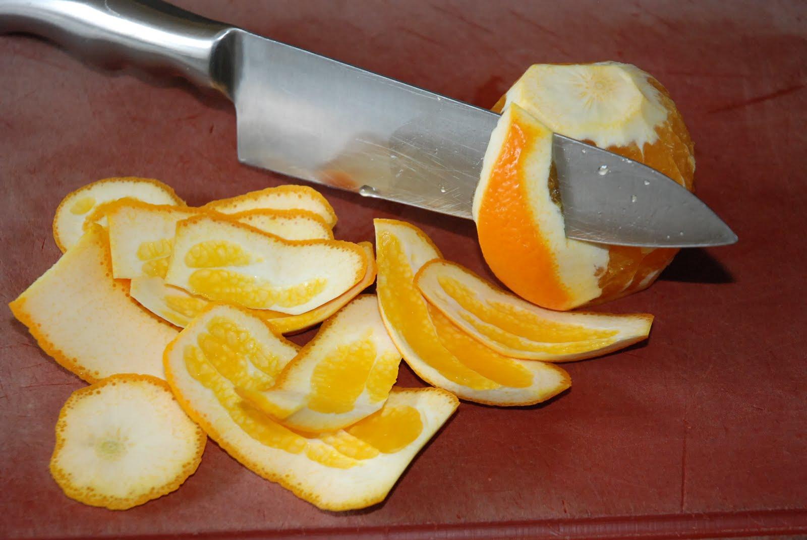 """""""à vif"""" schillen van een citrus"""