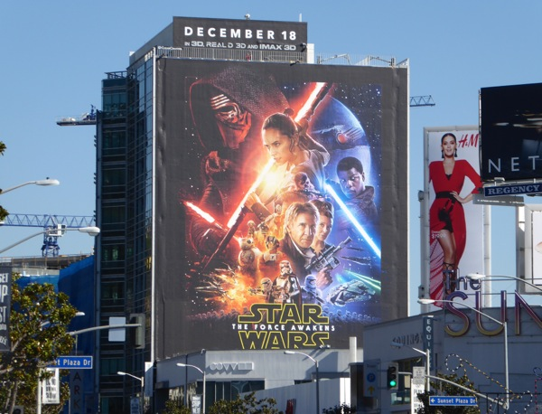 Star Wars Force Awakens movie billboard