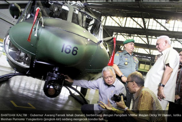 Heli Bell 412 EP Siap Pantau Perbatasan Kalimantan Timur