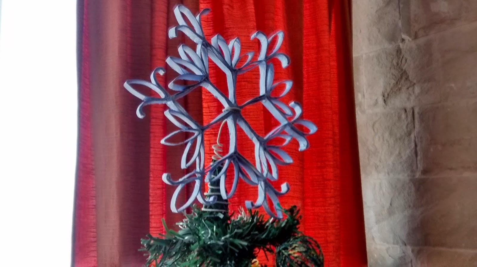 estrella navidad rollo papel higienico