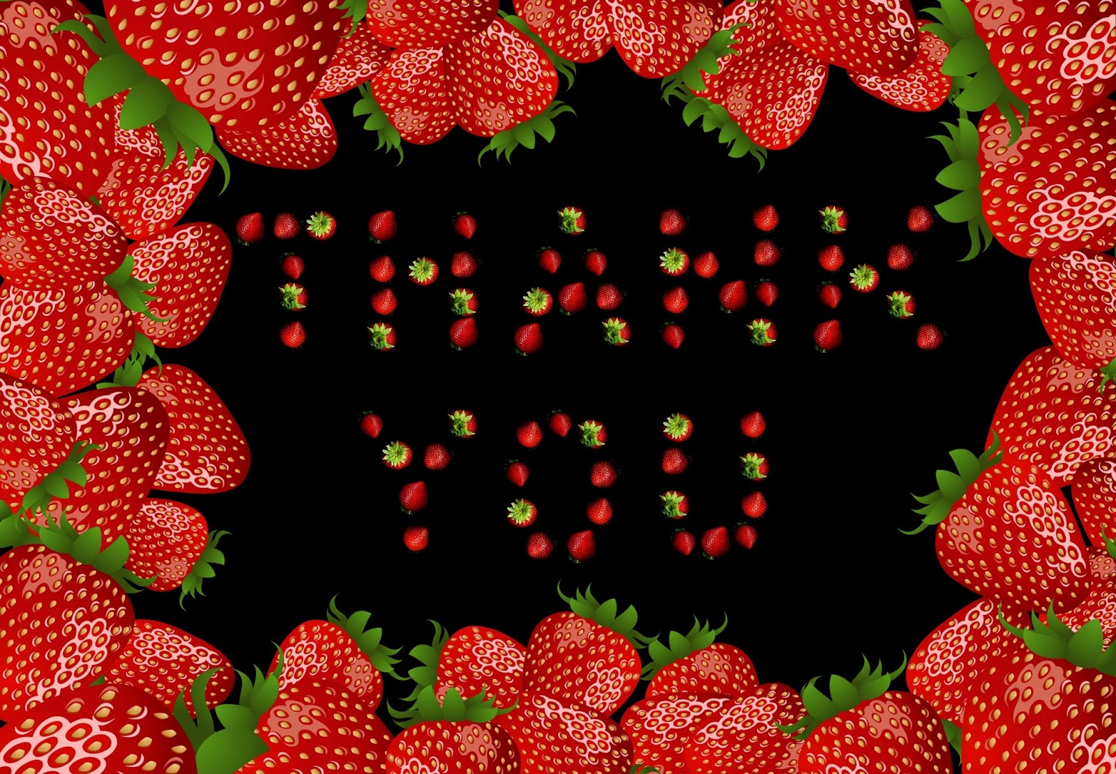 Strawberries Beautiful Thank You Pics
