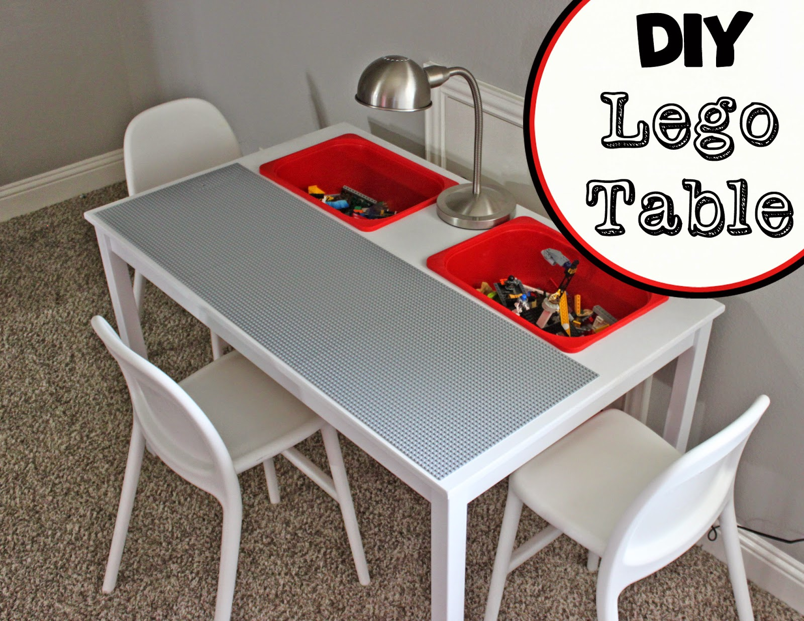 A little of this a little of that diy lego table for Table lego ikea