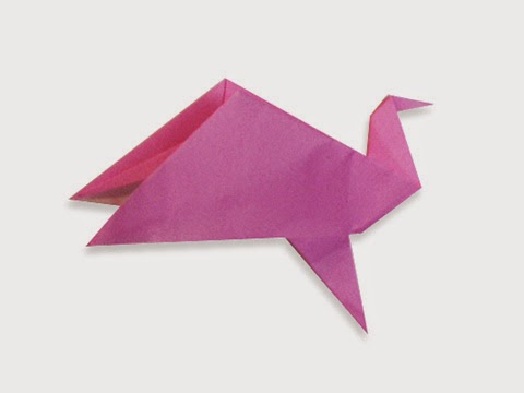Hướng dẫn cách gấp con chim vỗ cánh bay bằng giấy đơn giản - Xếp hình Origami với Video clip - How to make a Flappy Bird