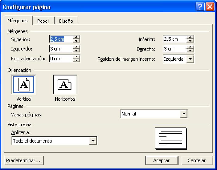 Informática para conocer y aprender: Configuración de la página en ...