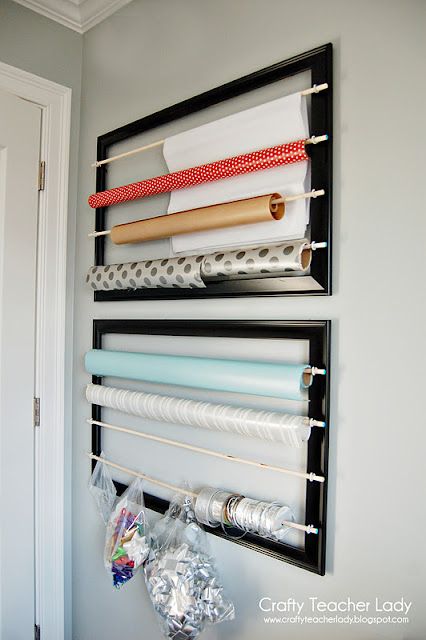 DIY Wrapping Paper Organizer