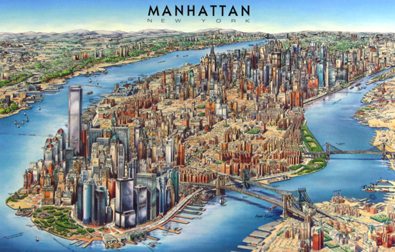 manhattan 3d map