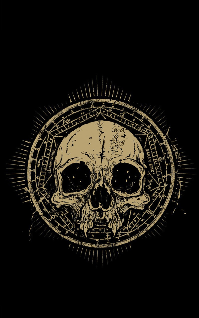 Click Here To Download Skull Talisman Grunge Android Wallpaper Resolution 800x1280 Pixel