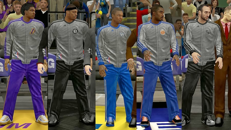 NBA 2K14 Christmas Day Uniform - Warmups