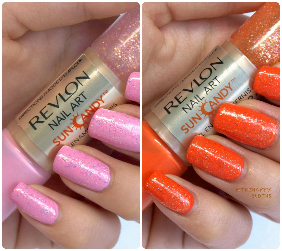 Revlon nail art sun candy nail enamel in pink dawn fiery sky hey guys ive got here two lovely colors from revlons new nail art sun candy nail enamels to swatch and review for yall the sun candy nail enamels are a prinsesfo Images