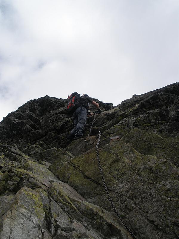 Początek wspinaczki na Kozi Wierch.