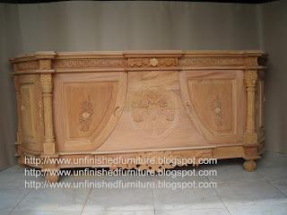 Furniture klasik bufet ukir klasik jepara bufet unfinished mentah mahoni supplier bufet ukir klasik jepara