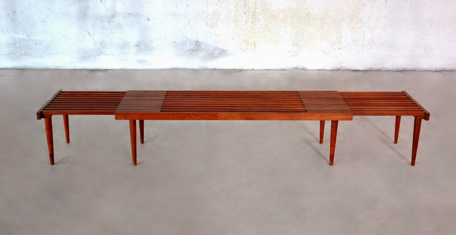 Select Modern Brown Saltman Expandable Teak Slat Bench Or Coffee Table