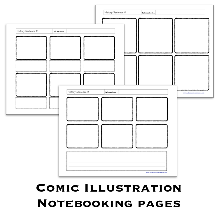halfahundred acre wood comic illustration pages free
