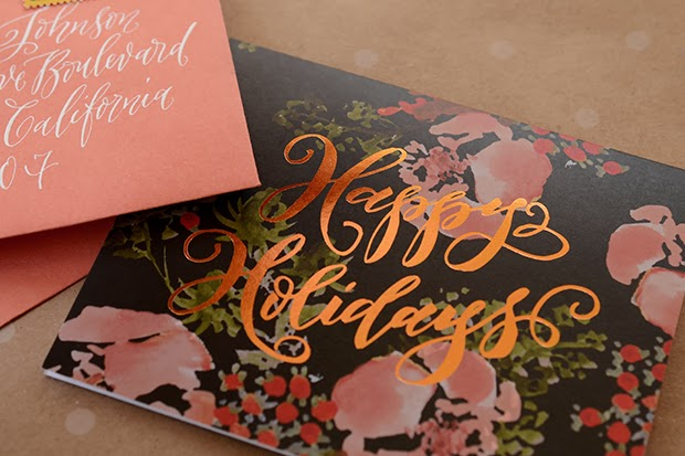 Antiquaria: calligraphy tutorial holiday card exchange!