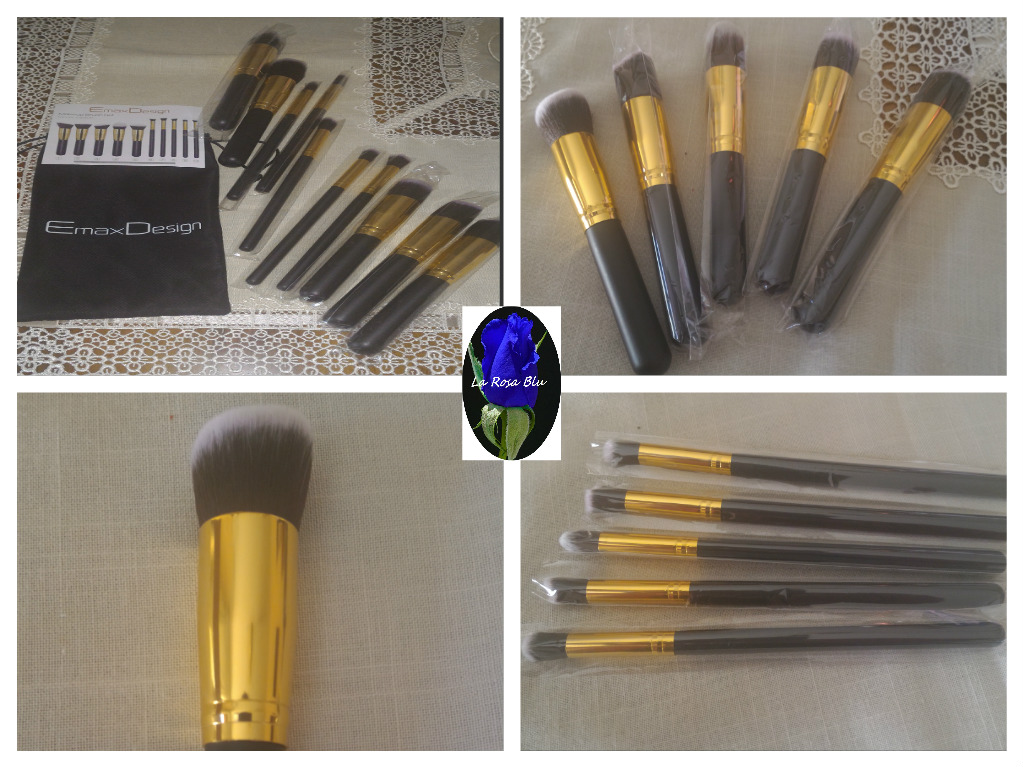 SET 10 PENNELLI PER MAKE UP EMAXDESIGN