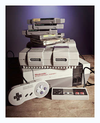 nintendo, super nintendo, and games stack