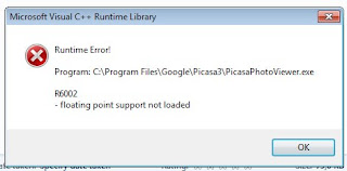 Cara Mengatasi Microsoft C++ Runtime Error - Floating point support not loaded-