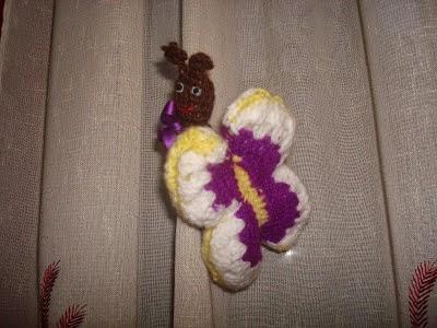 Mariposa de crochet