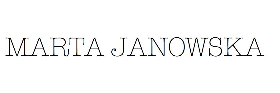 Marta Janowska blog