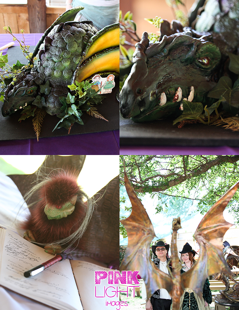 Scarborough Renaissance Festival wedding in which dragons seemed to be a huge theme and make some art as well