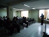 Conferencia en al Hospital Geriátrico PNP