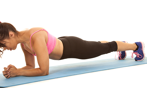 Good posture exercises like planks can help build core strength.