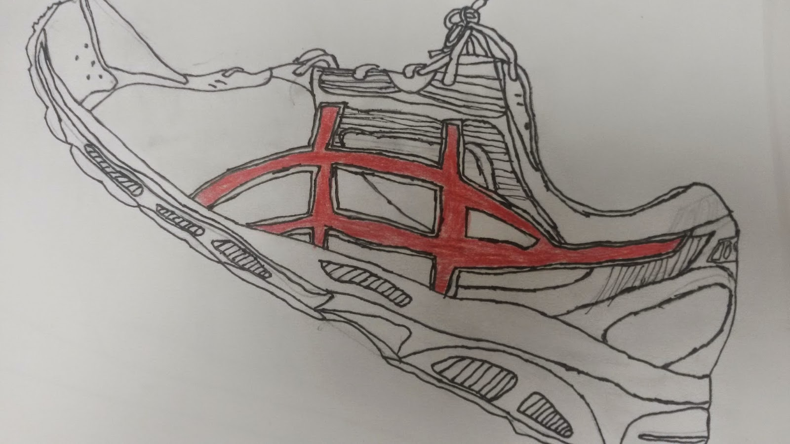 Contour Line Drawing Shoes Lesson Plan : Artolazzi: observational shoe drawing