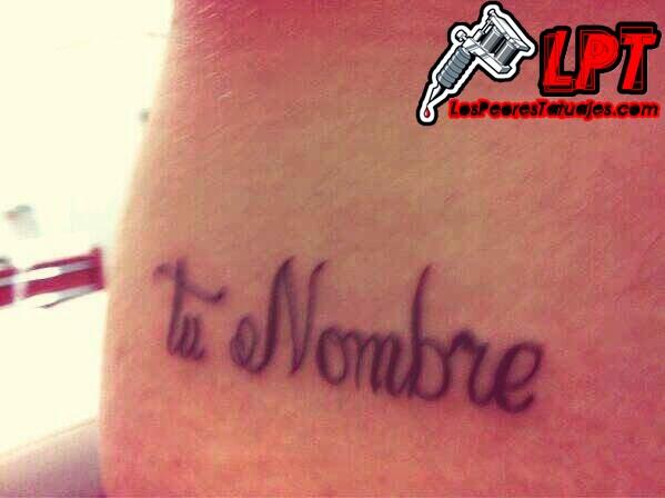 Tatuaje de humor : Tu nombre