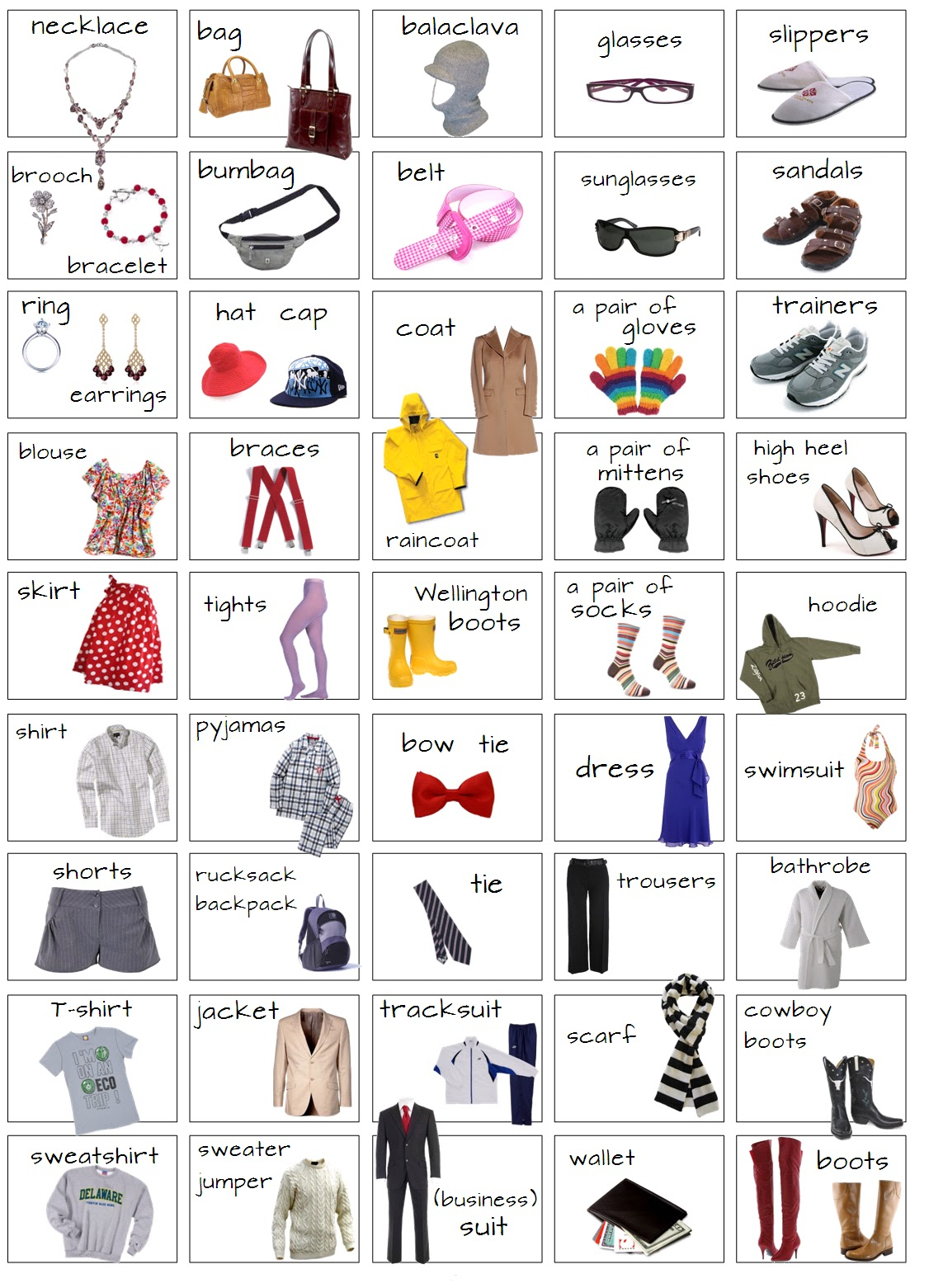 English Vocabulary Clothes | newhairstylesformen2014.com