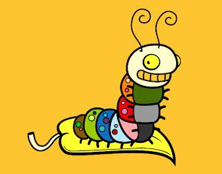 gusano multicolor Imagenes de dibujos graciosos