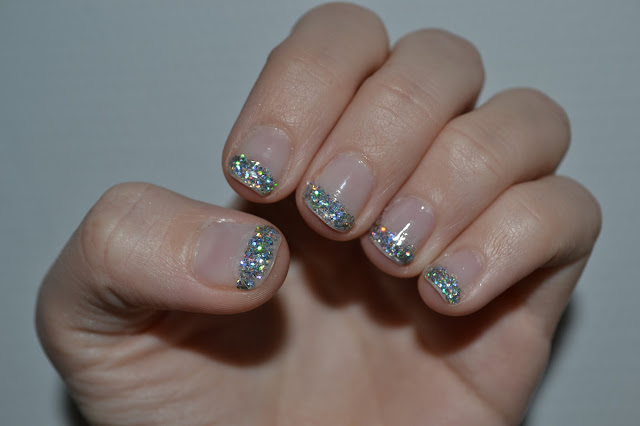 Glitter French Manicure by Elins Nails