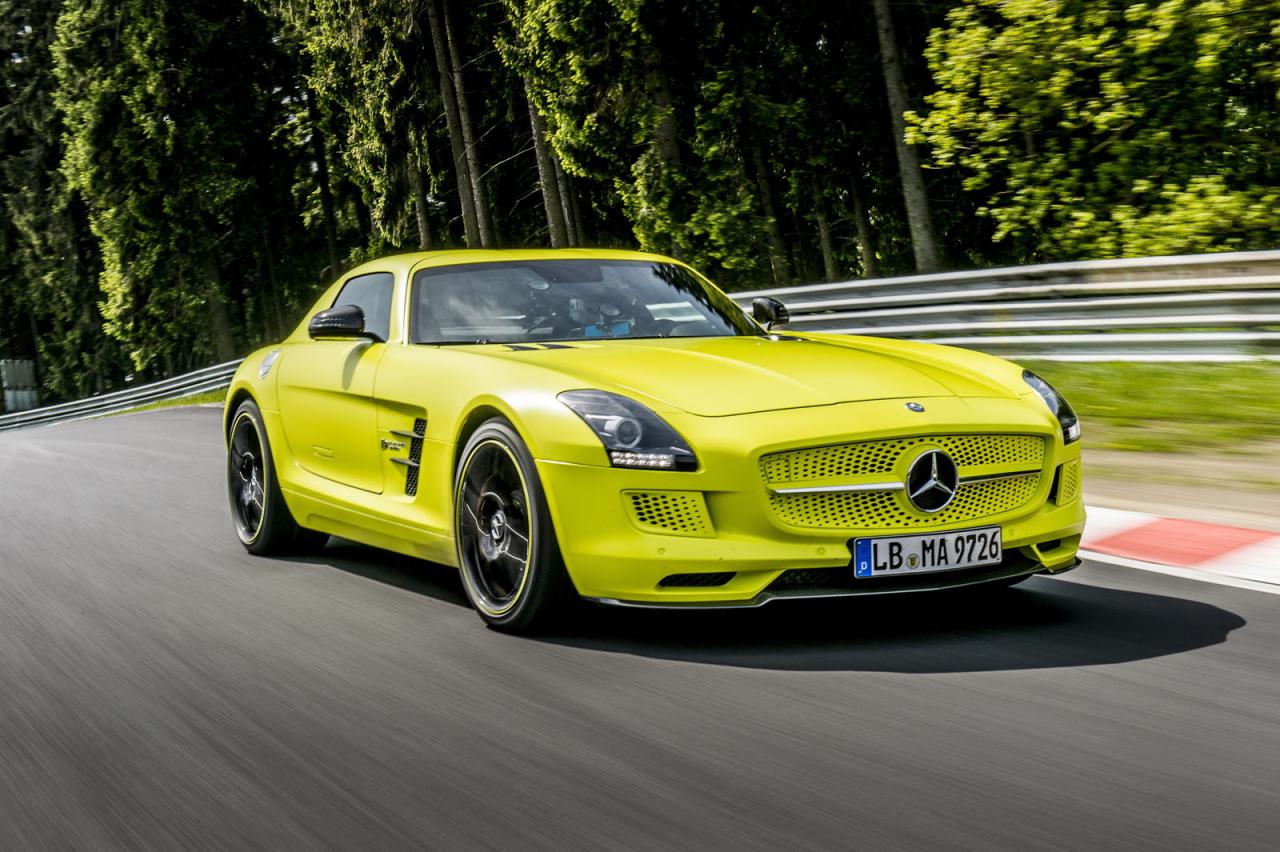 in4ride mercedes benz sls amg coupe electric drive breaks