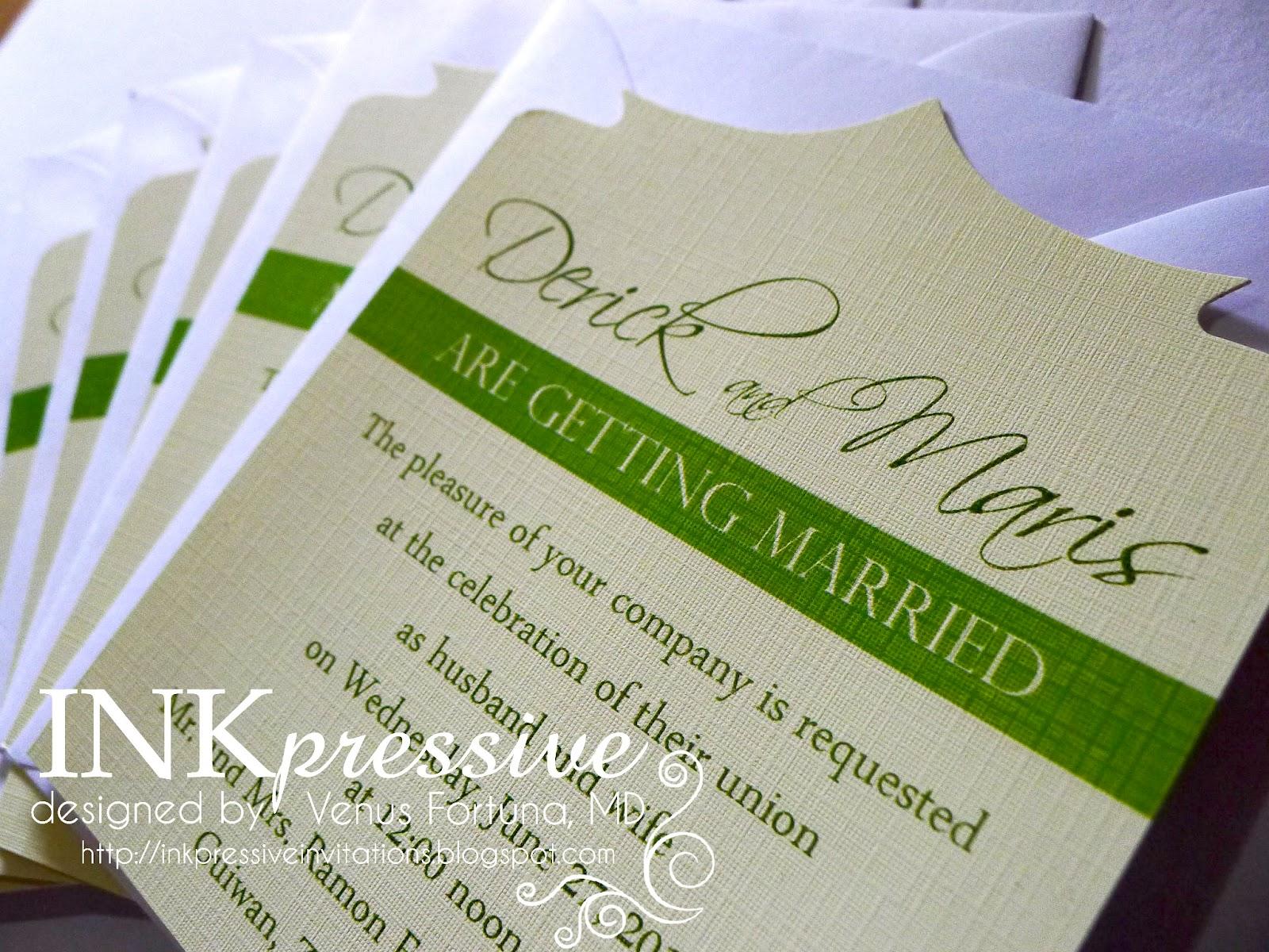 INKPRESSIVE INVITATIONS: June 2012