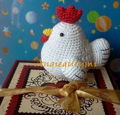 Amigurumi Ladybug Pattern Free : Amigurumi DIY by AngieGurumi: Amigurumi Gallinita Free n_n