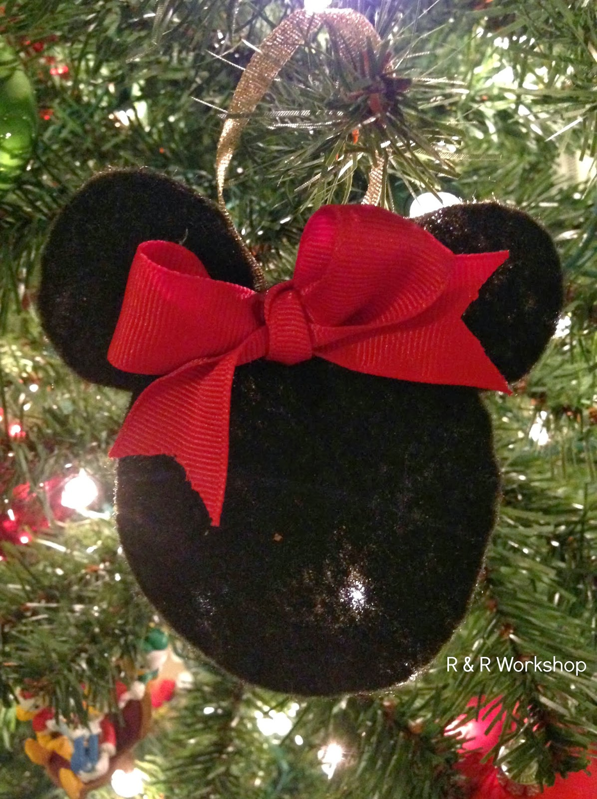 5 your done you could add your childs name or initials if you choose - Minnie Mouse Christmas Ornament