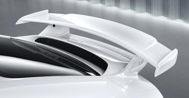 Detalle automóvil Porsche 911 GT3 2013, alerón trasero