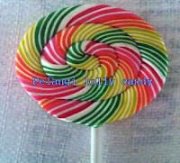 permen lollipop bulat merk pelangi