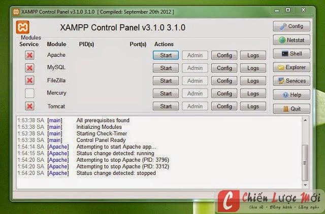 Kích hoạt Xampp trên localhost