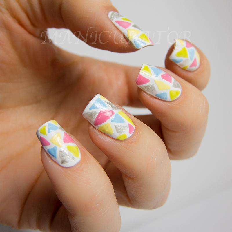 Manicurator Nail Candy Pen Triangle Mosaic Nail Art Geometric