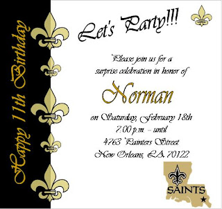 SolutionsEvent Design By Kelly NFL Saints Themed